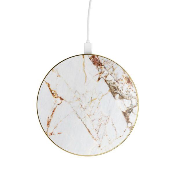 Bežični punjač - Wireless Charging Pad (Qi) - Carrara Gold Marble