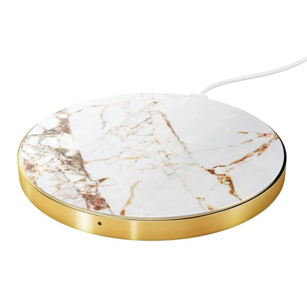 Bežični punjač - Wireless Charging Pad (Qi) - Carrara Gold Marble