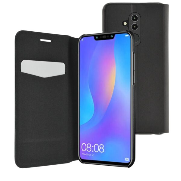 Etui - booklet ultra thin with stand funciton - black - for Huawei Mate 20 Lite