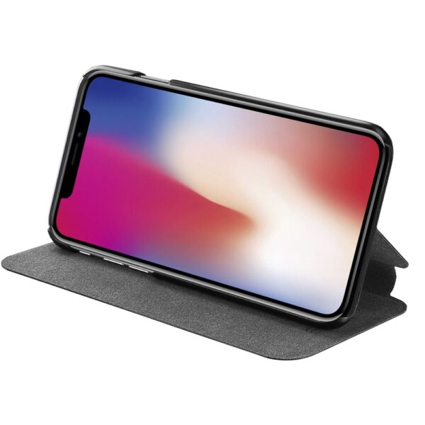 Etui - booklet ultra thin with stand funciton - black - for iPhone X