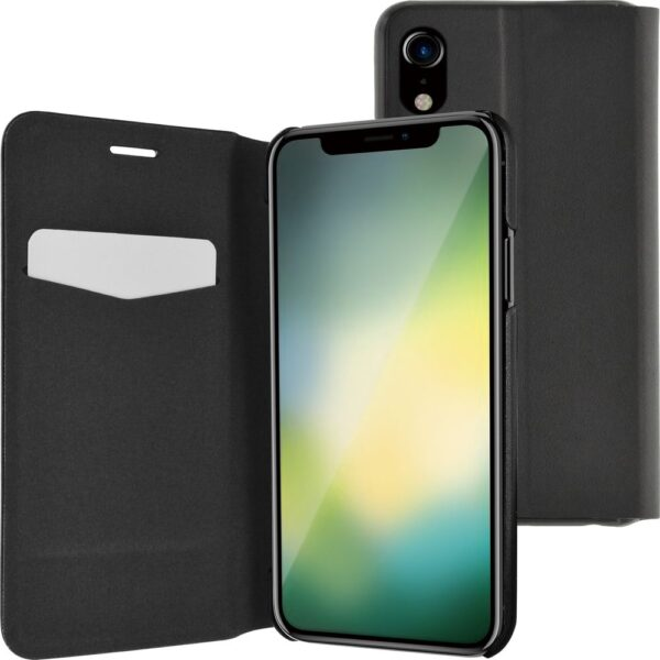 Etui - booklet ultra thin with stand funciton - black - for iPhone Xr