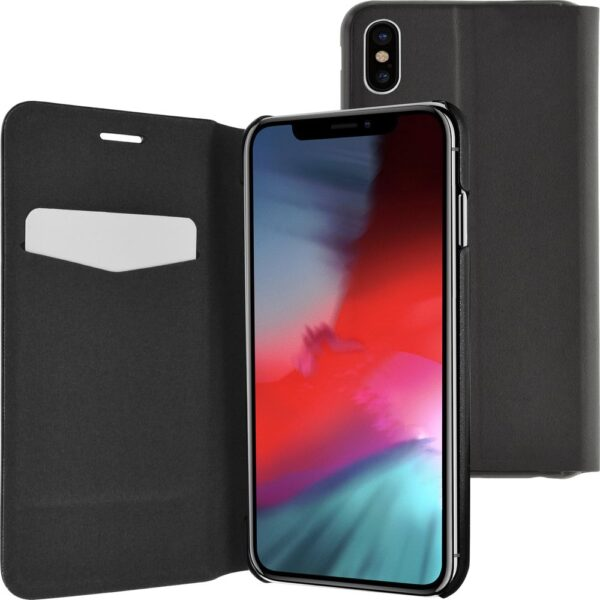 Etui - booklet ultra thin with stand funciton - black - for iPhone Xs Max