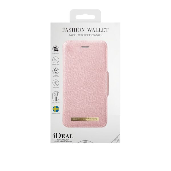 Etui - iPhone 8/7/6/6s - Pink - Fashion Wallet