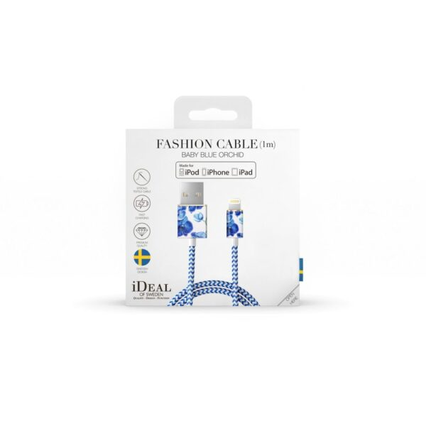 Kabel - Lightning to USB (1,00m) - Baby Blue Orchid
