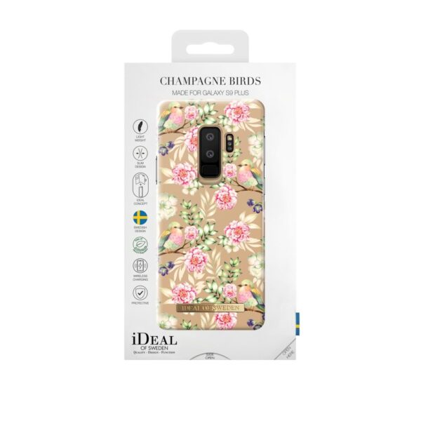 Maskica - Galaxy S9+ - Champagne Birds - Fashion Case