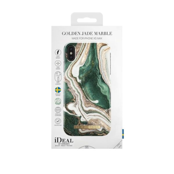 Maskica - iPhone Xs Max - Golden Jade Marble - Fashion Case
