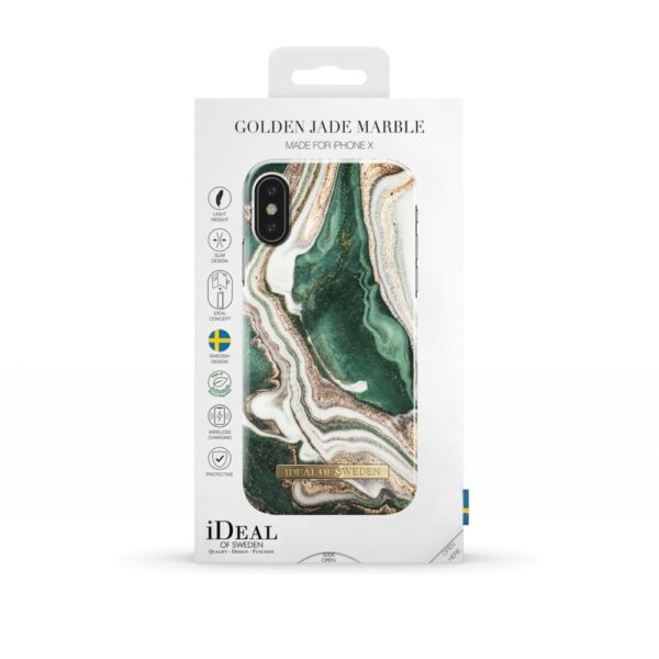 Maskica - iPhone Xs/X - Golden Jade Marble - Fashion Case