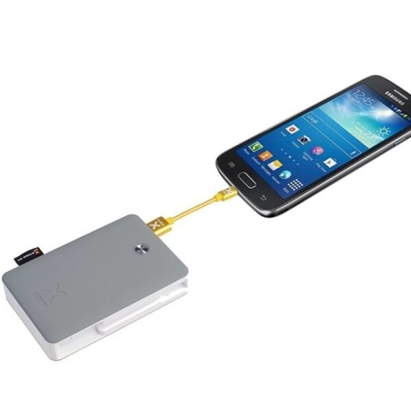 Prijenosni punjač - 9.000 mAh - Uni 2xUSB - +Removable MicroUSB & MicroUSB & USB-C cable
