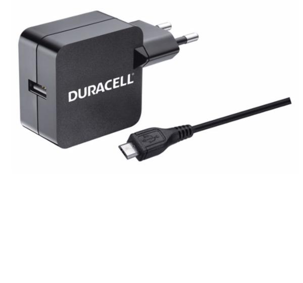 Punjač – Uni 1xUSB +MicroUSB cable- 2.4A - Black