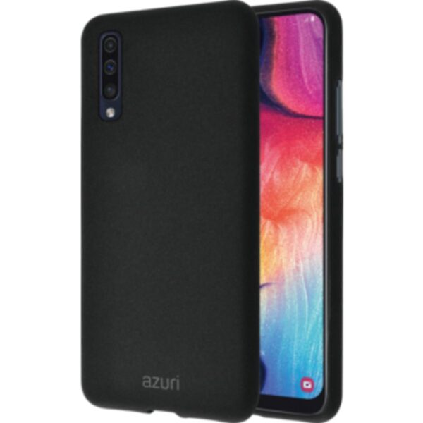 Maskica - flexible cover with sand texture - black - for Samsung Galaxy A50