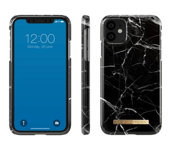 Maskica - iPhone 11Xr - Black Marble - Fashion Case