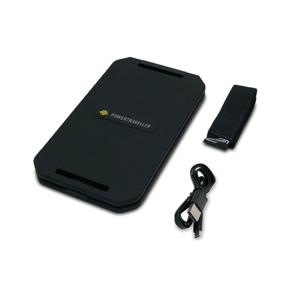 A closed black solar charger